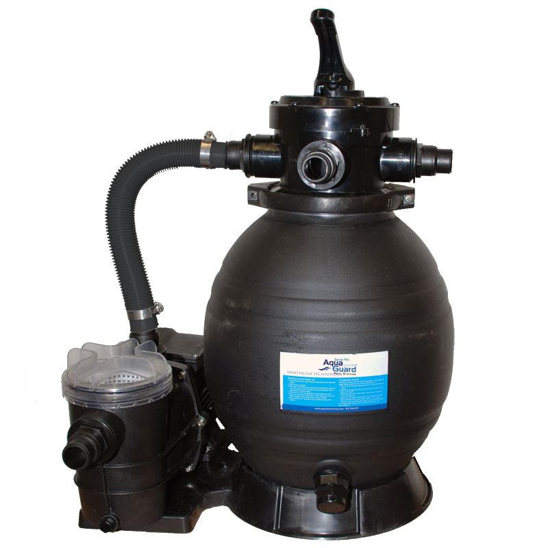 13 sand filter system aquaguard pool products for Pond sand filter system
